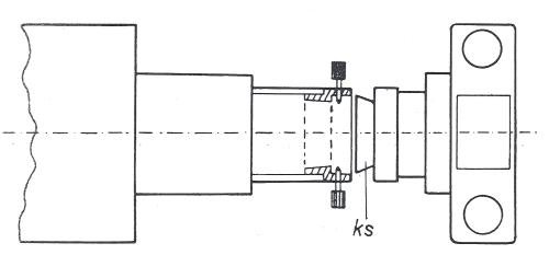 Obr. 15.5: Přichycení fotografického přístroje na okulárový konec dalekohledu kuželovou spojkou (ks).