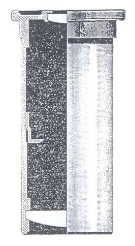 Obr. 4: průřez Huygensovým okulárem f = 62,5mm; O - oční čočka; K - kolektivní čočka; C - clona zorného pole