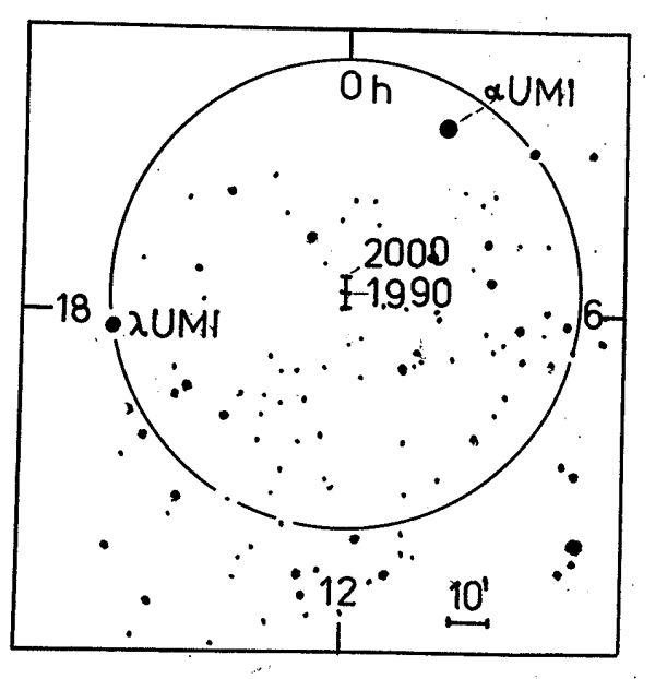 Obr. 6: mapka okolí světového pólu