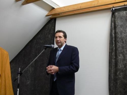 primátor Jihlavy Ing. Jaroslav Vymazal při prvním světle nového dalekohledu